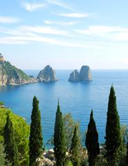 Capri island (famous Faraglioni)