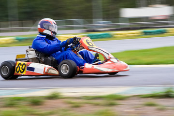 Go-Kart on a race