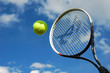 Leinwanddruck Bild - tennis ball and raquet in action