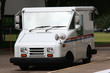 White Mail Truck Delivering Mail - 4762296