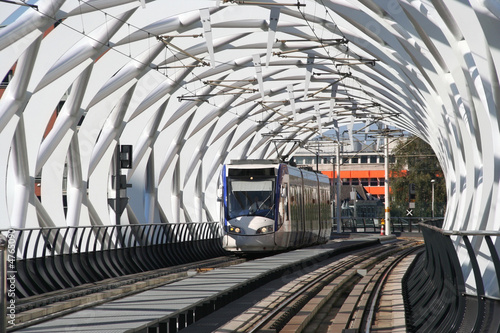 Speed Tram in Tunnel in The Hague