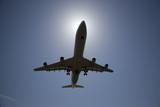 jet airliner landing poster