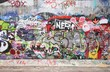 canvas print picture - graffiti wall