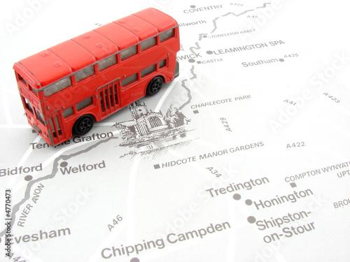 In de dag Londen rode bus Doubledecker