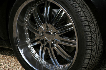 chrome sportscar alloy
