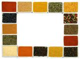 Fototapety Spices border