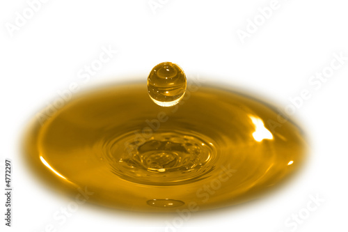 Illustration 3d water drop that simulates cooking oil or honey