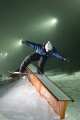Night snowboarding 07
