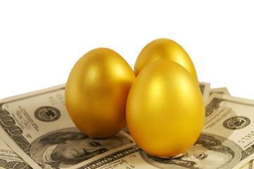 Three gold eggs