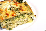 Vegetarian lasagne with ricotta cheese and spinach filling poster
