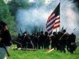 Union line preparing to fire,