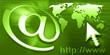 internet - e-mail - green