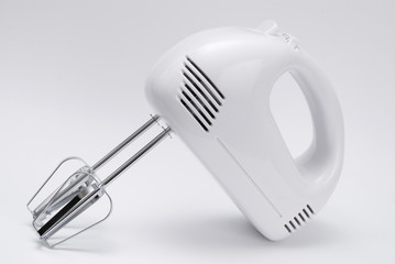 Electric food mixer on white background