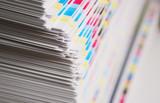 CMYK printing sheet color bars poster