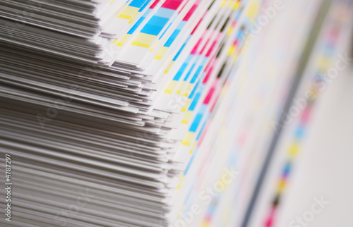 CMYK printing sheet color bars - 4787297