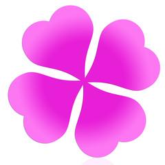 Pinkes kleeblatt
