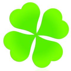 Grünes Kleeblatt