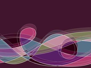 retro purple scribble loop lines