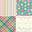 vintage pink turquoise pattern combo