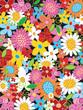 Quadro spring flower power background