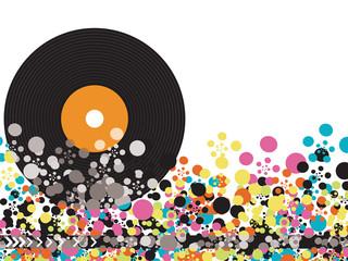 vinyl disco color pop
