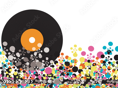 vinyl disco color pop