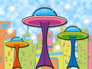 alien cartoon space centre