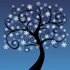 Arbre aux flocons de neige