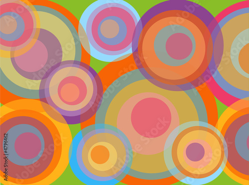 psychedelic pop rainbow circles - illustrated background