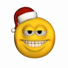 Smiley Wearing Santa Hat 2
