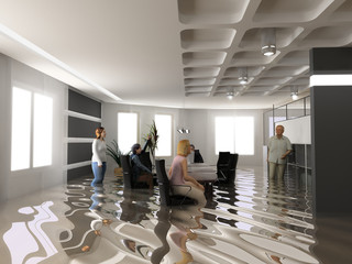 flooding office