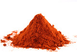 Fototapety pile of ground paprika on white