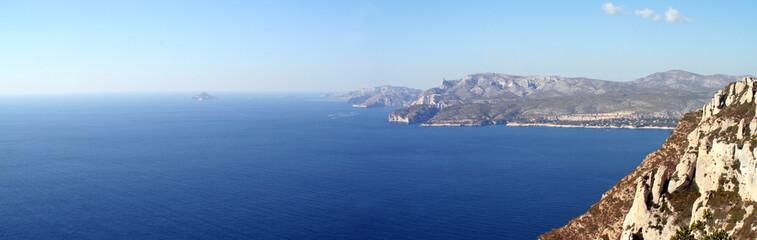 vue panoramique de la baie de cassis