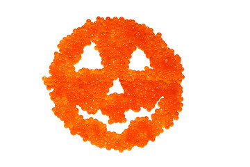 caviar spooky halooween face