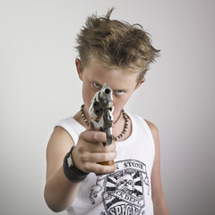 Boy with pistol