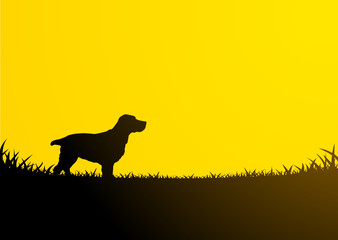 Animals Silhouette - Dog Cocker
