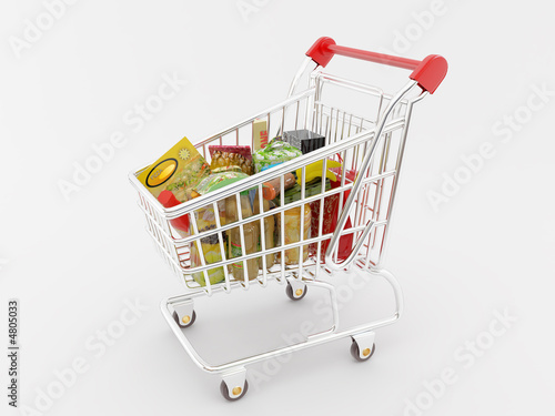 Keuken foto achterwand Boodschappen Shopping Cart