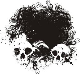Black hole skull illustration