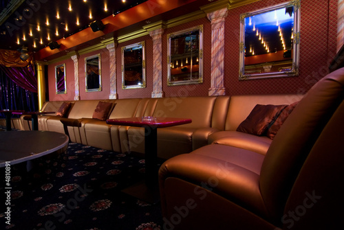 Luxury night club interior