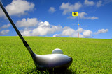 Fototapety golf drive vers le trou 18