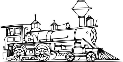 vector train contour