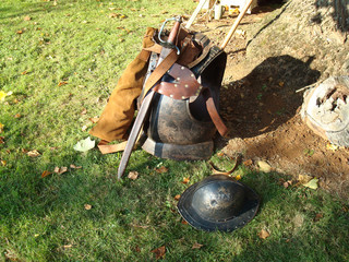 Body Armour , Sword & Tin Hat (Civil War 17th Century)