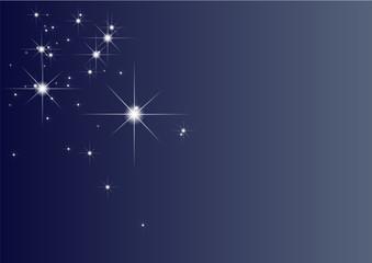 Stars in the blue sky