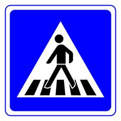 fussgängerüberweg schild