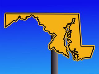 warning Maryland sign