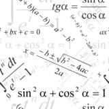 Fototapety Seamlessly vector wallpaper mathematics on white