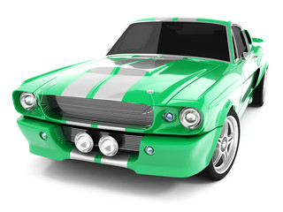 Green Classical Sports Car