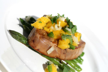 Healthy Fish with Mango Salsa