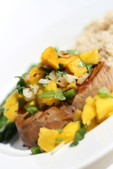 Fish - Tuna Steak with Mango Salsa