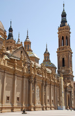 cathedral in Zaragoza